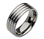 Stainless Steel Grooved 8mm Polished Ring - J107817
