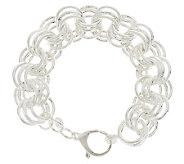 UltraFine Silver 7-1/4 Bold Triple Rolo Link Bracelet, 23.3g - J282717
