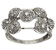 Scattered Pave Diamond Ring, Sterling 1/4 cttw by Affinity - J283217