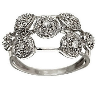 Product image of Scattered Pave' Diamond Ring, Sterling 1/4 cttw by Affinity