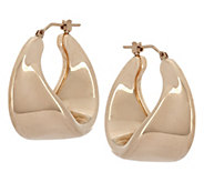Oro Nuovo 1 Sculpted Twist Design Round Hoop Earrings, 14K - J291317