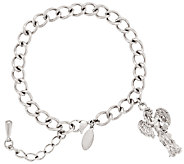 Stainless Steel My Good Angel Charm Bracelet - J293517