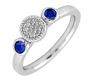 Simply Stacks Sterling & Double Round SapphireDiamond Ring - J299317