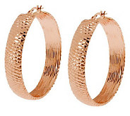 Arte dOro 1-1/2 Diamond-Cut Hoop Earrings, 18K Gold - J300617