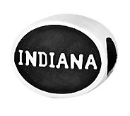 Sterling Silver Indiana University Bead - J300717