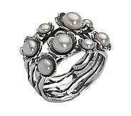 Or Paz Sterling Cultured Freshwater Pearl Flower Ring - J301517