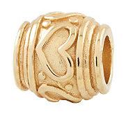 Prerogatives 14K Yellow Gold-Plated Sterling Heart Bead - J302717