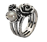 Or Paz Sterling CulturedFreshwater Pearl Rose Ring - J303317