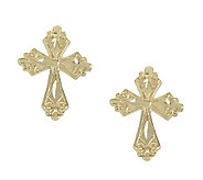 Jewelry of Faith Ornate Cross Stud Earrings, 14K - J303417