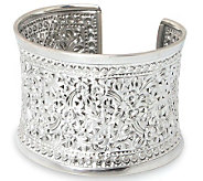 Novica Artisan Crafted Sterling Floral Sparkle Cuff - J303917