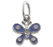 Mixers Sterling Enamel & Crystal Butterfly Pendant - J304717