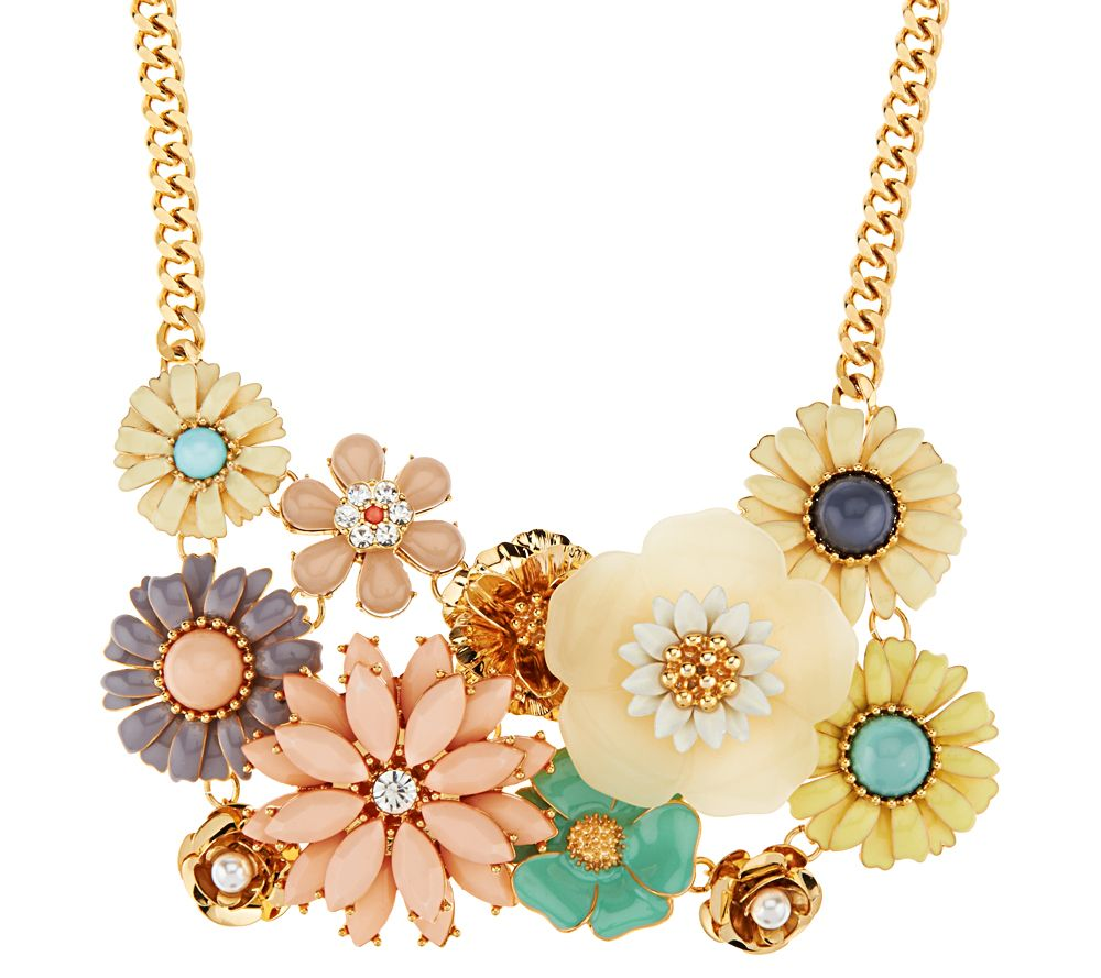 Joan rivers floral confection 18 bib necklace page 1 for Joan rivers jewelry necklaces