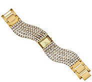 As Is Joan Rivers Couture Chic Multi-Strand Crystal Watch - J320617