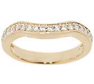 Diamonique Band Ring, 14K Clad - J321317