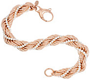Honora Cultured Pearl 2.5mm Rope Twisted Bronze Bracelet - J322317