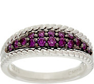 Purple Diamond Band Ring, Sterling, 1/2 cttw, by Affinity - J330817