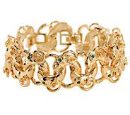 As Is Jacqueline Kennedy Sim. Emerald Rams Head Bracelet - J330917