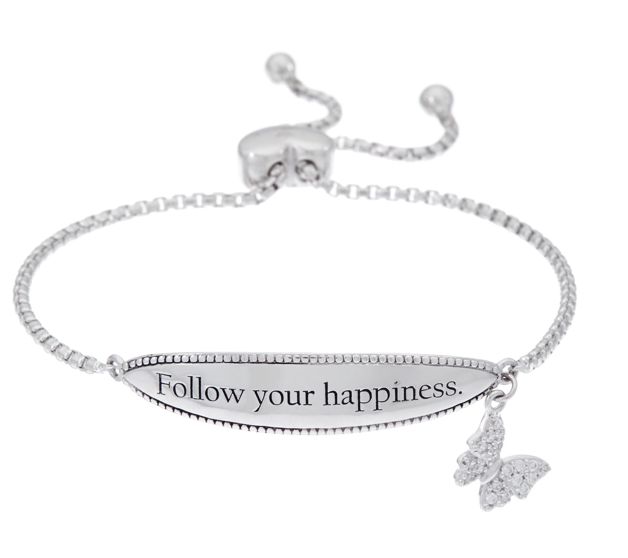 6132b6be8 ... inexpensive hallmark sterling inspirational adjustable bracelet page 1  u2014 qvc 1bb2c bfe56