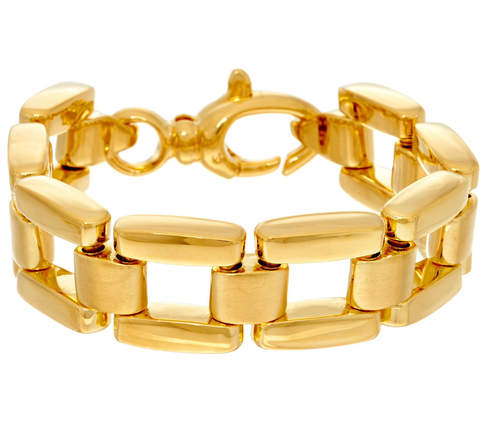Oro Nuovo Small Panther Link Reversible Bracelet, 14k  J334617