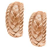 Judith Ripka Sterling & 14K Clad Textured HoopEarrings - J336817