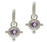 Judith Ripka Sterling Diamonique & Gemstone Drop Earrings - J339217