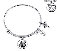 Sterling Expandable Family Bangle by Extraordinary Life - J339517