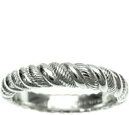 Judith Ripka Sterling Twisted Texture Thin BandRing - J340517