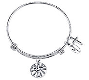 Sterling Expandable Faith Charm Bangle by Extraordinary Life - J340617