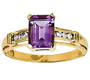 Gemstone and White Topaz Ring, 14K Yellow Gold - J342217
