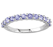 Sterling Silver 0.80 ct Tanzanite Band Ring - J342317