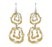Sterling & 14K Gold-Plated Wavy Circle Dangle Earrings - J342617