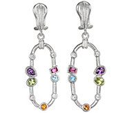 Judith Ripka Sterling and Multi Gemstone DangleEarrings - J342917