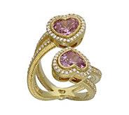 Judith Ripka 14K Clad & Diamonique Heart BypassRing - J343417