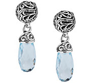 Carolyn Pollack Signature Sterling Blue Topaz Drop Earrings - J343617