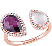 2.65 cttw Gemstone & 1/7 cttw Diamond Ring, 14KRose Gold - J343917
