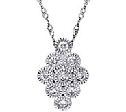 Geometric Diamond Pendant w/Chain, 14K, 1/4 cttw, by Affinity - J344017
