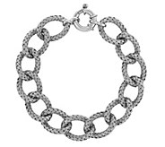 Sterling Basket Weave Textured 8  Bracelet - J344317