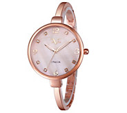 V19.69 Italia Womens Rosetone Watch w/ Pink Mother of Pearl - J344517