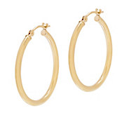 EternaGold 1 Polished Round Hoop Earrings, 14K - J344717