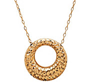 EternaGold 18 Puffed Circle Pendant w/ Chain,14K, 1.2g - J345517