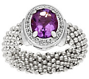 Vicenza Silver Sterling 1.55 ct Amethyst Ring - J346217