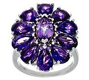 Multi-Cut Gemstone Sterling Silver Bold Ring 6.00 cttw - J346917