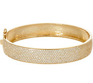 Diamonique Large 7.80 cttw Pave Set Bangle, 14K - J347117