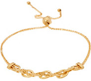 Vicenza Gold Oval Link Adjustable Bracelet, 14K, 2.8g - J347417