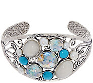 Sterling Silver Multi-gemstone Cuff by Or Paz - J347617