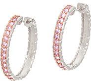 Colors of Sapphire Sterling Hoop Earrings 1.25 cttw - J348117