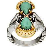 Luna Gemstone Sterling Silver Brass Ring by American West - J349317