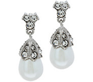 As Is Joan Rivers Simulated Pearl & Simulated Daimond Earring - J351917
