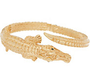 Italian Gold Average Alligator Cuff, 14K Gold 10.4g - J353517