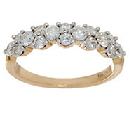 As Is 98 Facet Diamond Band Ring, 1.00 cttw, 14K by Affinity - J354417